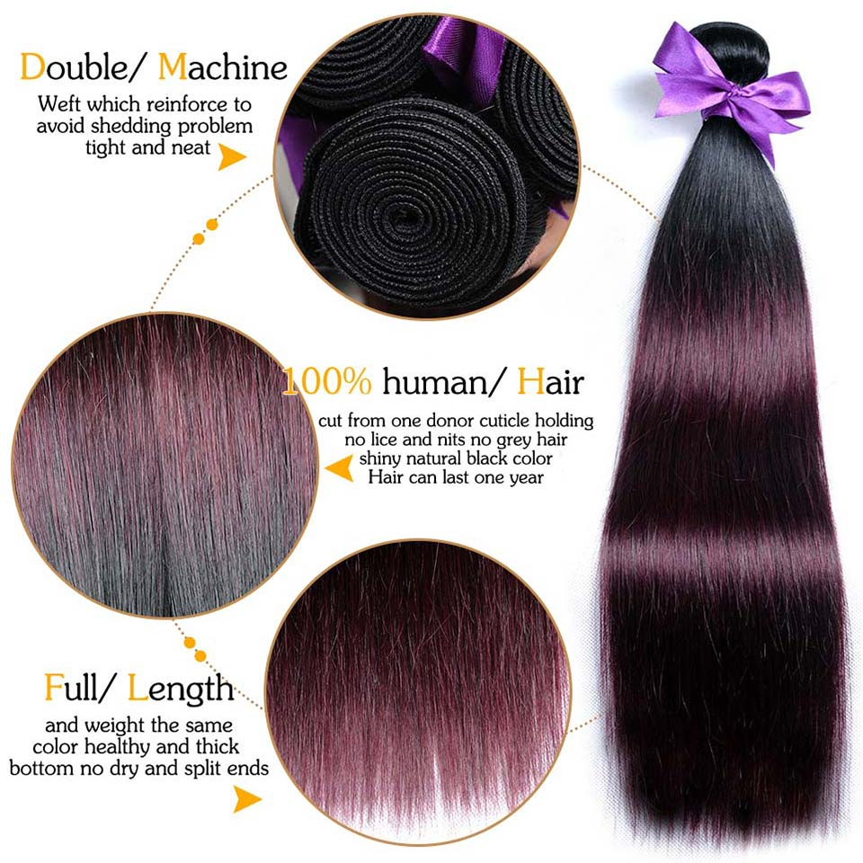 aliexpress com buy pinshair red hair ombre bundles with closure