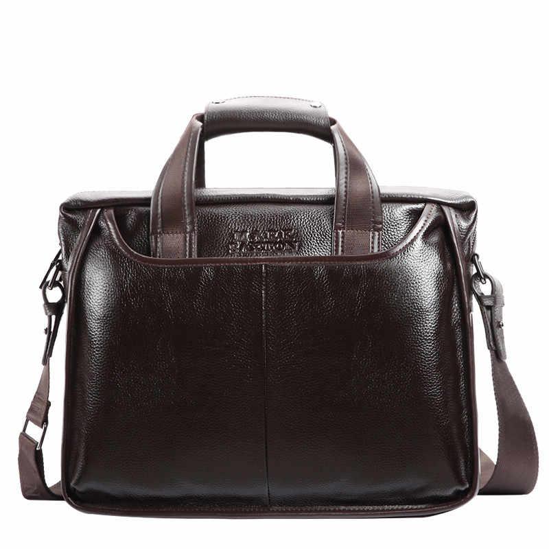 2019 Nova Moda couro masculino maleta comercial/Real do vintage De Couro saco do mensageiro dos homens/casual Natural Cowskin Negócios saco