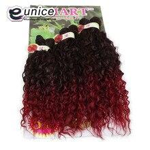 Ombre, синтетические вьющиеся волосы, два тона, 1b/BUG, Кудрявые, волнистые, синтетические волосы для наращивания, 6 шт./лот, на всю голову, бразильские вьющиеся волосы