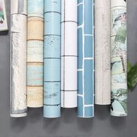 Modern Style 3D Wood New Design Wallpaper Self Adhesive Foil Film Wall Sticker For Bedroom Home Decoration