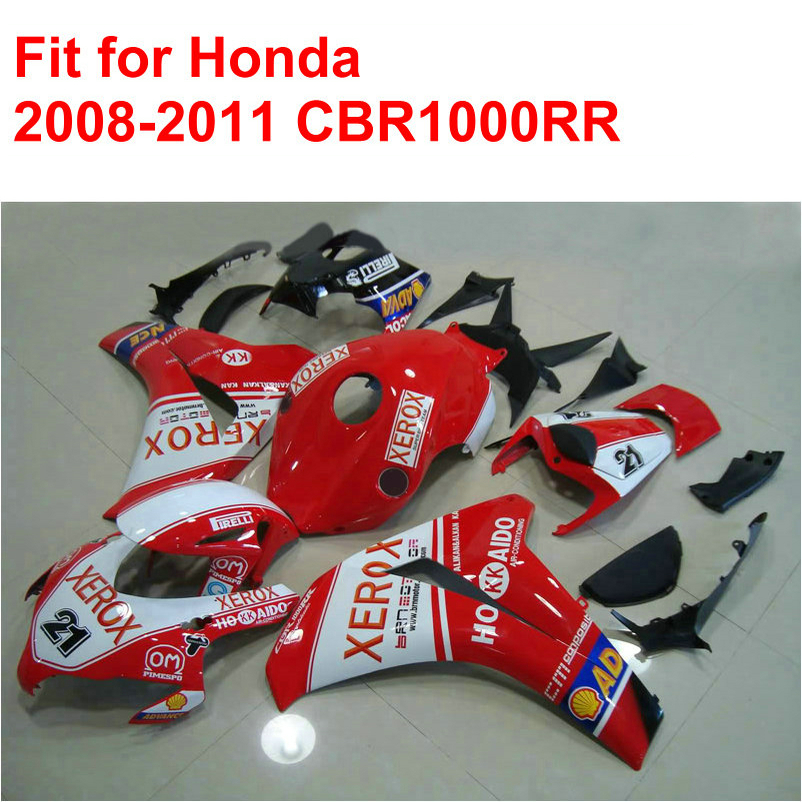 High quality ABS fairings set for HONDA injection mold CBR1000RR 2008-2011 red black white fairing kit CBR 1000 RR 08-11 RT31 high quality electric cooker plastic injection mold