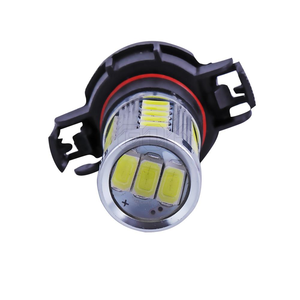 2 buc super alb Lampa cu ceață led auto H11 H16 33smd 5730 lumină - Faruri auto - Fotografie 4