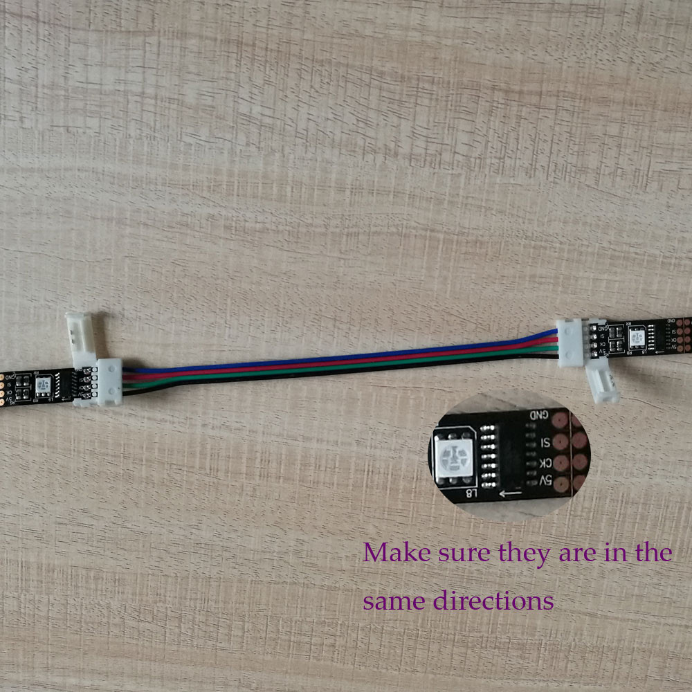 2pcs strips connect by connector