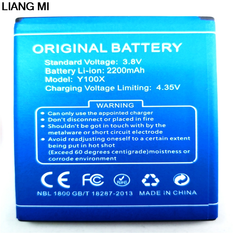 For Doogee <font><b>Y100X</b></font> <font><b>Battery</b></font> 2200mAh Bateria Accumulator For DOOGEE NOVA <font><b>Y100X</b></font> with phone stander for gift