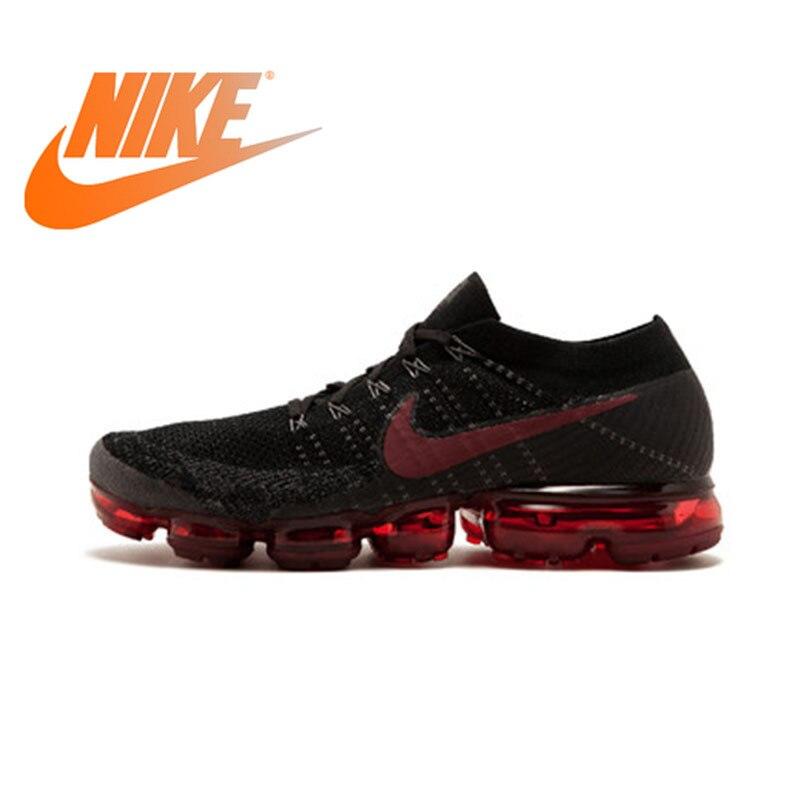 Original Officiel Nike Air VaporMax Être Vrai Flyknit Respirant Hommes de Chaussures de Course Sports de Plein Air Sneakers Low Top de Sport