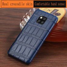 Genuine Leather Crocodile belly phone case for Huawei mate 20 pro 9 skin individuality Plaid protective