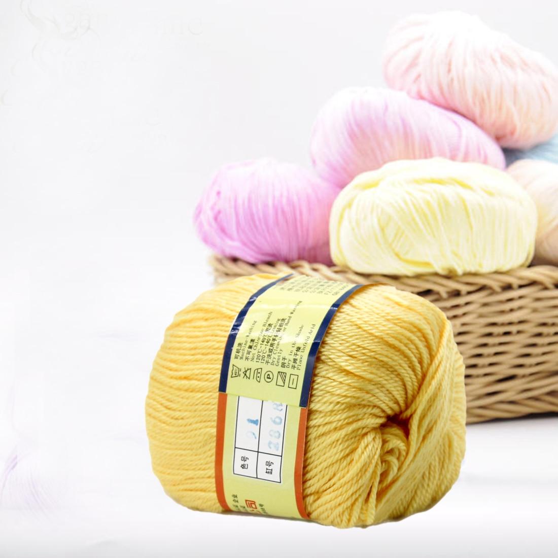 1pc 50g Cotton Knitting Yarn Crochet Yarn For Knitting