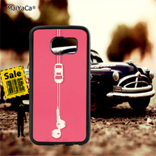 headphones bus pink soft TPU edge phone cases for samsung s6 plus s7 s8 s9 s10 lite e note8 note9 case