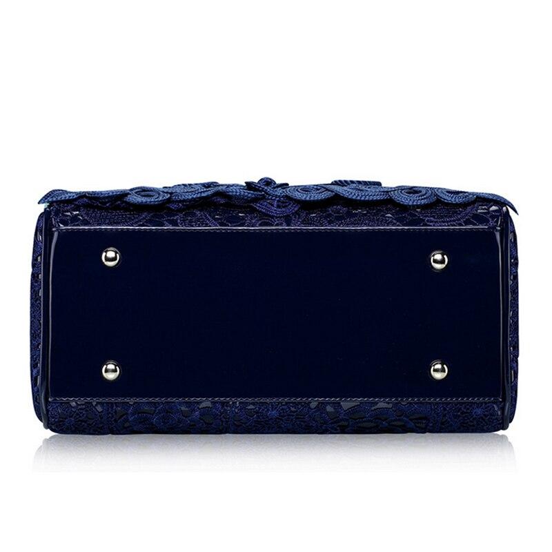 couro azul patente bolsas femininas Ocasião : Versátil