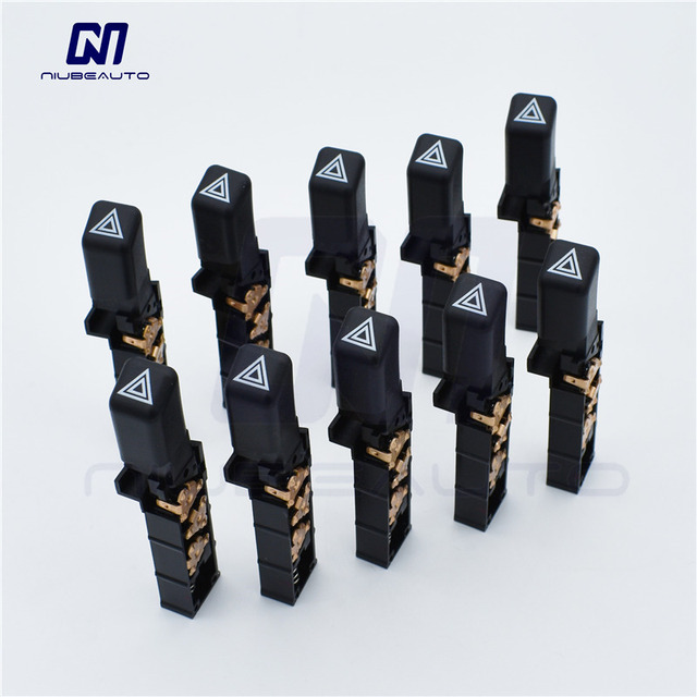 Niubeauto 10pcs Lot Oe Emergency Hazard Warning Flash Switch On 15177379 15174447 For Chevy S10 Blazer Gmc S15 Pickup Olds