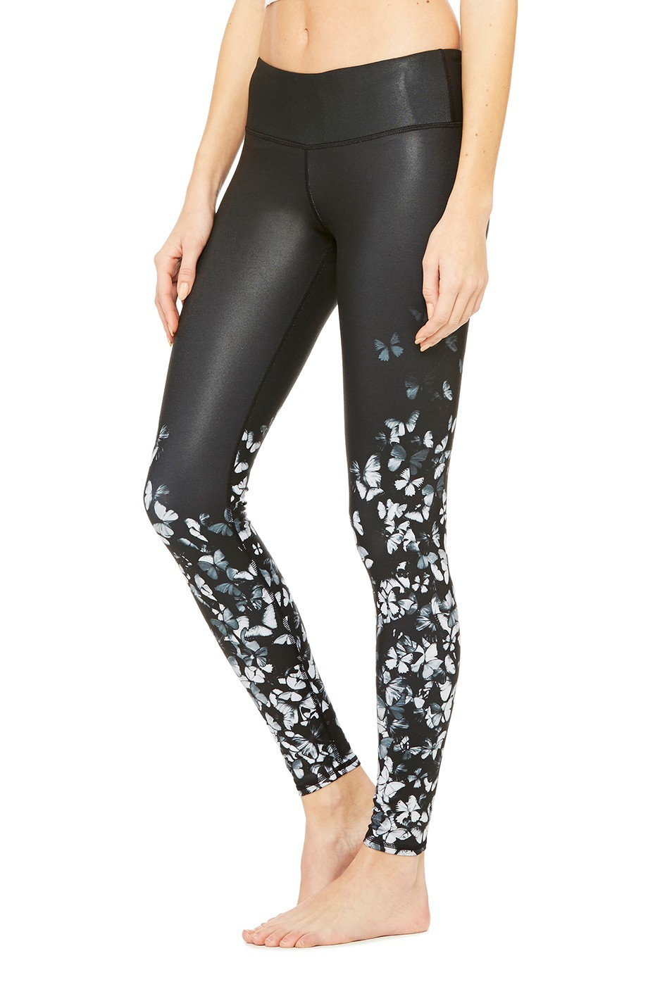 7221ae719840bd Yoga Leggings butterflies Printed Workout Legging Quality Sports Jogging Fitness  Sport Compression Gym Leggings Running Tights -in Yoga Pants from Sports ...