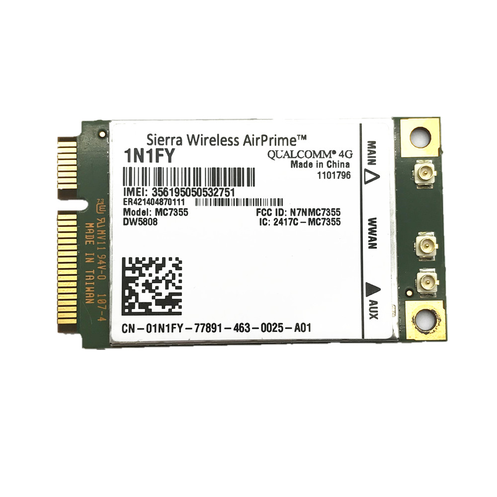 New Wireless Airprime MC7355 PCIe LTE/HSPA+GPS 100Mbps Card 1N1FY DW5808 Sierra 4G Module For Dell 1900/2100/850/700 (B17)/700