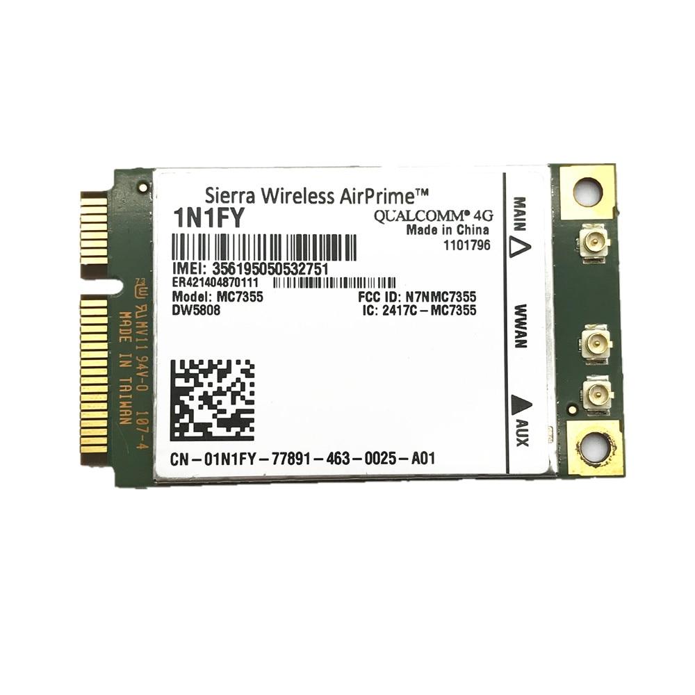 Nouveau Airprime sans fil MC7355 PCIe LTE/HSPA + GPS 100 Mbps carte 1N1FY DW5808 Sierra 4G Module pour Dell 1900/2100/850/700 (B17)/700Nouveau Airprime sans fil MC7355 PCIe LTE/HSPA + GPS 100 Mbps carte 1N1FY DW5808 Sierra 4G Module pour Dell 1900/2100/850/700 (B17)/700
