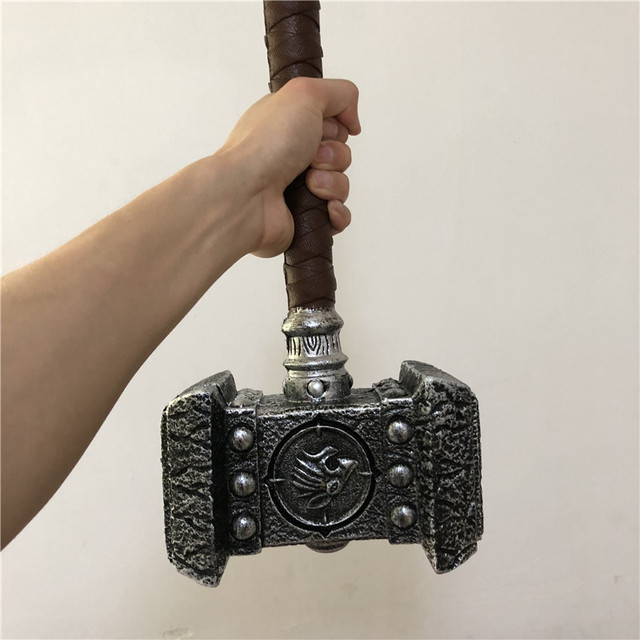 WOW  1:1 Warcraft Hammer 54cm Destroy Hammer Weapon Game Role Cosplay Safety PU Material Figure Model  Kids Gift 5