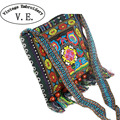 Novo saco Bordado Do Vintage Boho Étnica Hmong Shoppers Hobo Saco de ombro das Mulheres saco do mensageiro saco Bordado bolsa