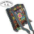 Nuevo bolso Bordado de la Vendimia de Boho Étnico Hmong Bag Shoppers Hobo hombro de Las Mujeres bolsa de mensajero bolso Bordado