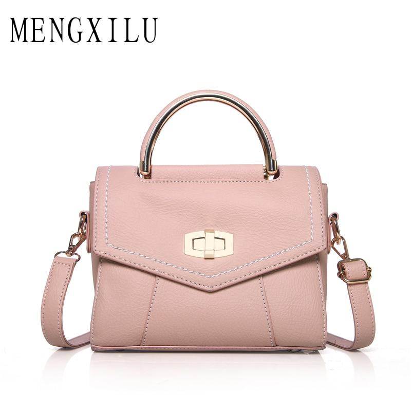MENGXILU Fashion Small Flap Women Bag High Quality Pu Leather Handbag Lock Women Bags Crossbody Bags For Women 2018 Sac A Main mengxilu high quality composite bag