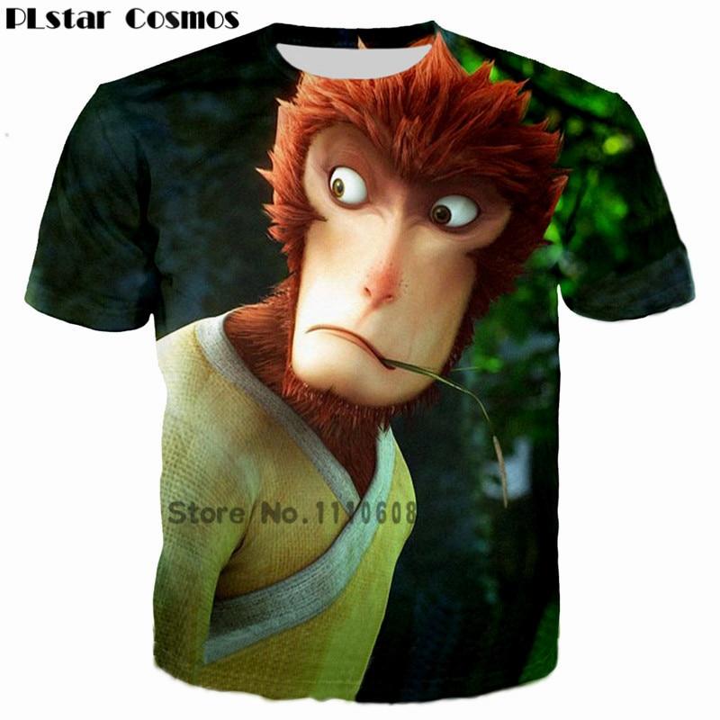 PLstar Cosmos 2018  Men Animal 3D Print T shirt Monkey King Hero is back Costume Wolf t-shirt Man Goku tshirt homme Camisetas