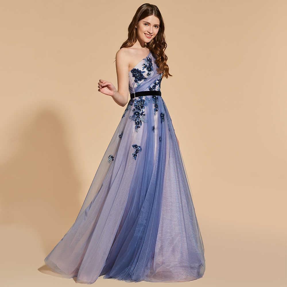 e1b1102ddba Dressv vestido largo elegante de fiesta de graduación un hombro con cuentas  línea a hasta jpg