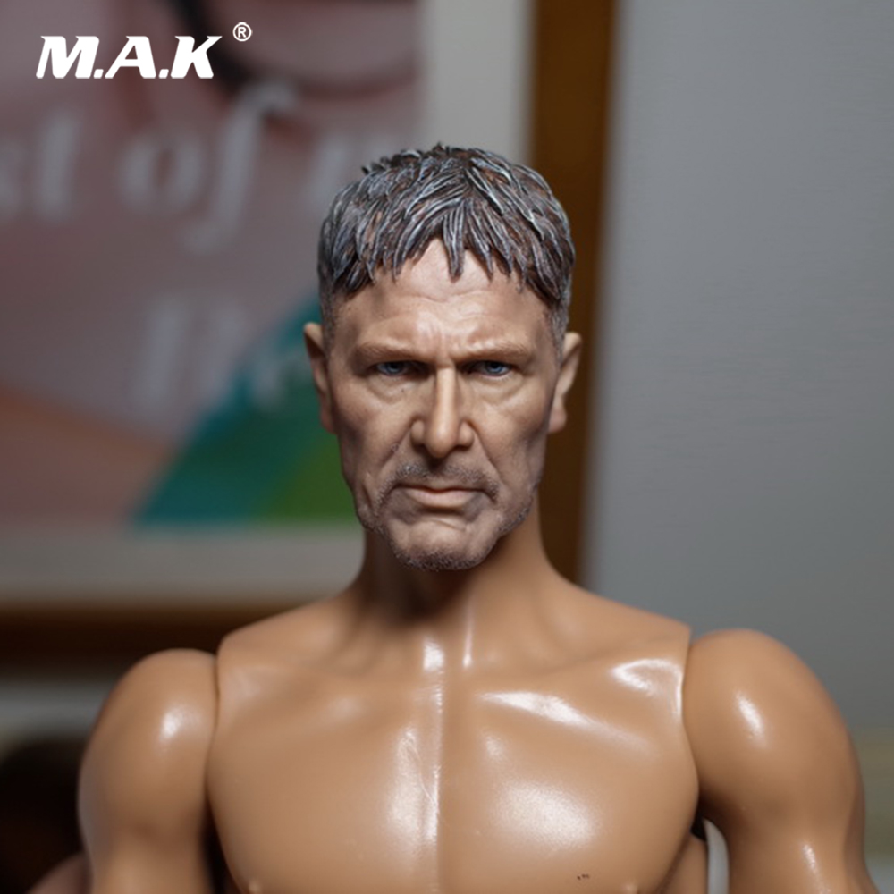1/6 Scale Harrison Ford Blade Runner 2049 Rick Head Svulpt Carved Model Toys for 12 Male Action Figure Doll 1/6 Scale Harrison Ford Blade Runner 2049 Rick Head Svulpt Carved Model Toys for 12 Male Action Figure Doll