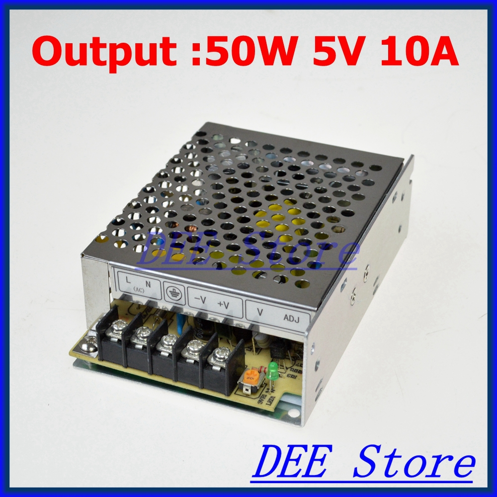 M-50-5 Led driver 50W 5V 10A Single Output  Adjustable Switching power supply  for LED Strip light  AC-DC Converter 50 5