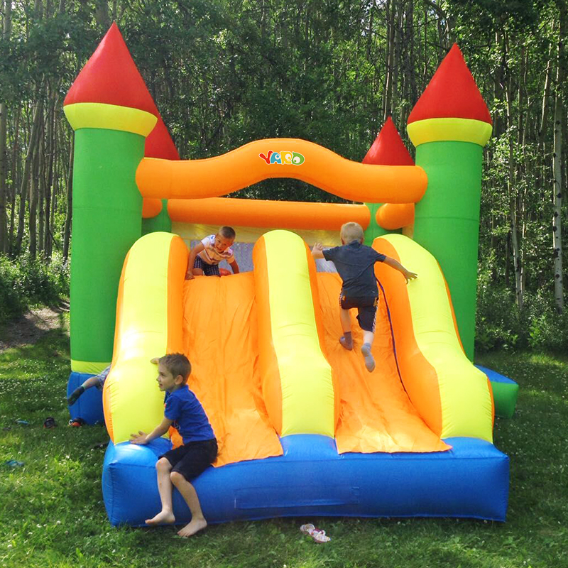 Giant Inflatable Bounce Castle Trampoline Obstacle Double Slides With Blower 6.5*4.5*3.8 M Big Size Bouncy Castle Christmas GiftGiant Inflatable Bounce Castle Trampoline Obstacle Double Slides With Blower 6.5*4.5*3.8 M Big Size Bouncy Castle Christmas Gift