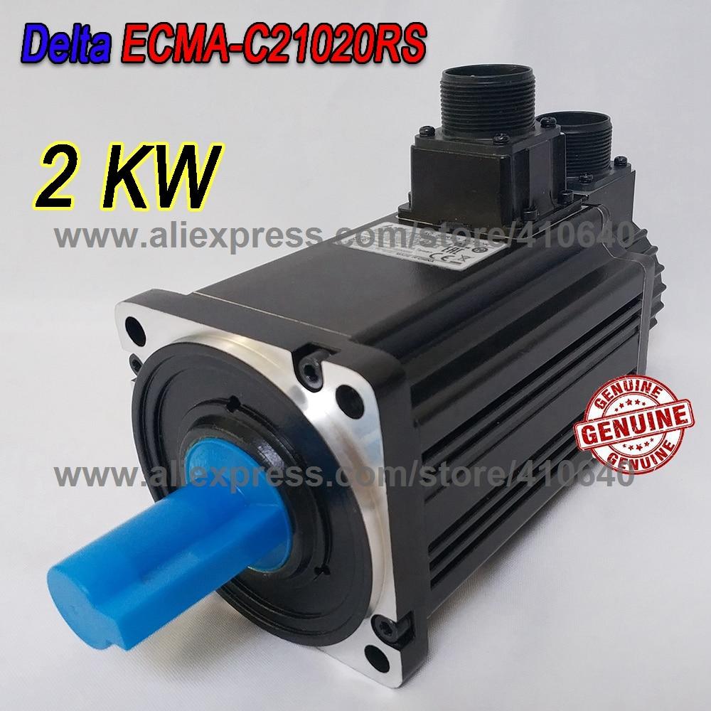 цена на Delta 2000 W Servo Motor ECMA-C21020RS Work With Servo Drive ASD-B2-2023-B Genuine 2KW Motor Quality Better After Sales Service