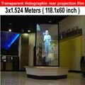 Envío gratis volver holográfica película transparente de la pantalla del proyector ( 118.1 x 60 pulgadas ) para publicidad de exposiciones