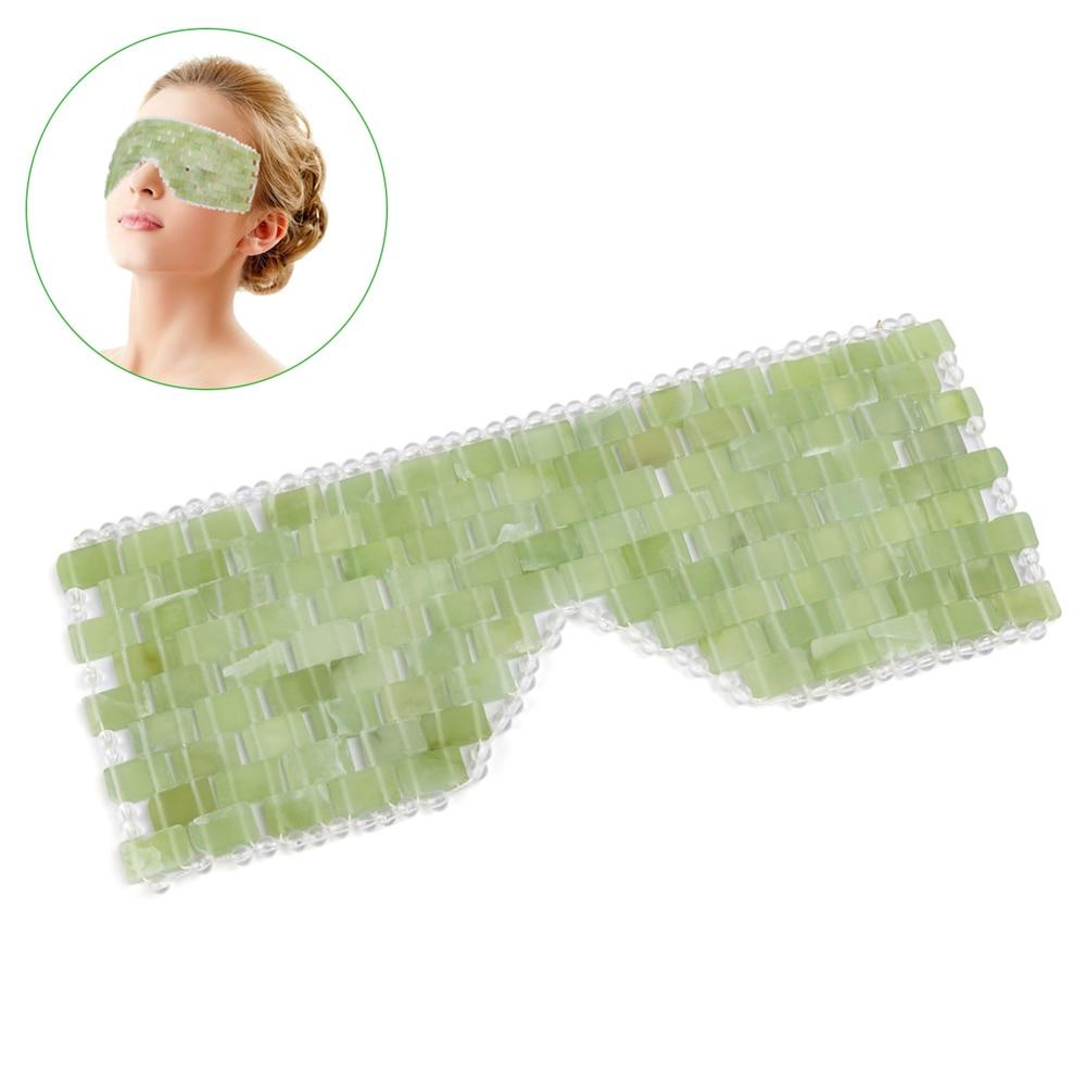 New Jade Eye Mask Massager Tool Natural Jade Eye Relaxation Massage Stone Skin Massage Beauty Care Tool with Box