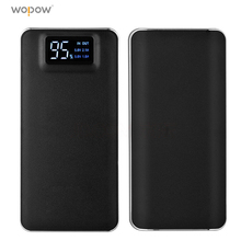 Wopow Power 20000mAh bank Ultra Thin Portable charger PowerBank LCD Display External Battery Backup for Xiaomi xiomi iphone SE 8