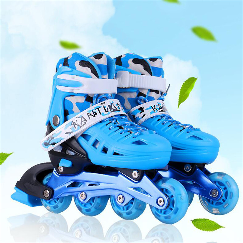 Flash Inline Skates Shoes for Kids Children Roller Skating Shoes Flashing Lighted PU Wheels Free Skating Patines Breathable black roller skates double line skates men women lady model adult pink f1 racing 4 wheels two line roller skating shoes patines