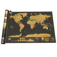 Luxury Edition Black Scrape World Map Deluxe Travel Scratch Poster Scratch Off Worlds Maps Gift For