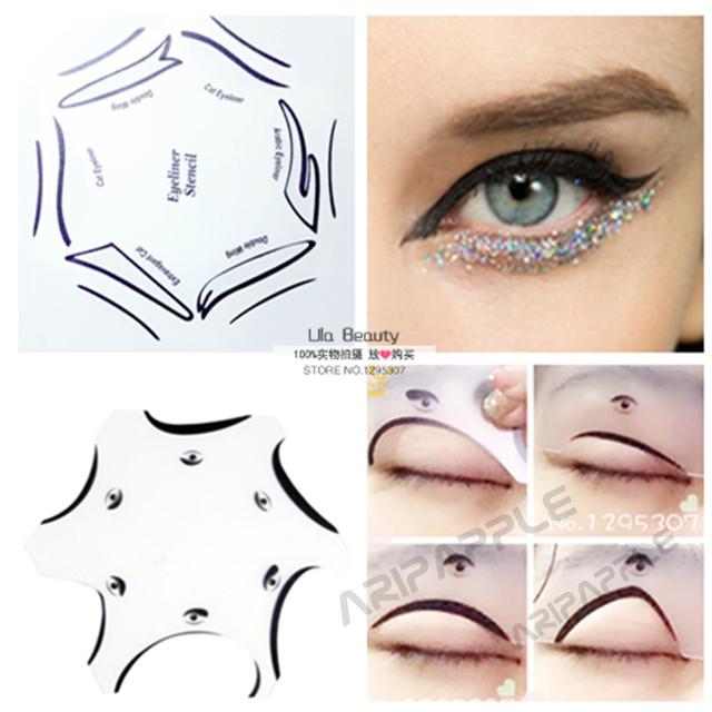 Packs Multifunction Eye Stencil In Eyeshadow And Eyeliner - Eyeshadow template