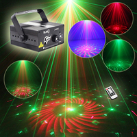 Mini Led RG Home Stage Lighting Effect 40 Patterns Star Laser Projector With Remote Lumiere Disco