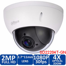 Original Dahua DH-SD22204T-GN metal shell waterproof camera IP66 full HD Dome network IP camera SD22204T-GN
