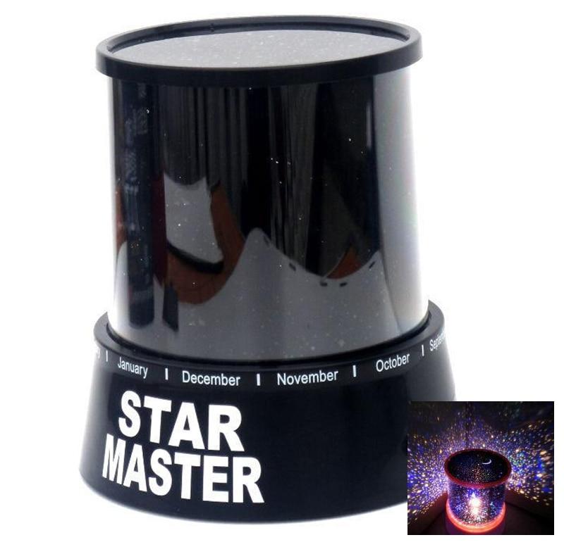 Romantic Amazing Cosmos Moon Colorful Star Master Universal Night Light Kid Children Projector Lamp Christmas Gift Present