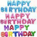13 pçs/lote Carta Feliz Aniversário BALÃO Folha De Alumínio Balão de Aniversário Do Bebê Decoração Do Partido Alfabeto Balão de Hélio