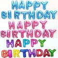 13pcs/lot Letter Happy Birthday BALLOON Aluminum Foil Balloon Baby Birthday Party Decoration Alphabet Helium Balloon