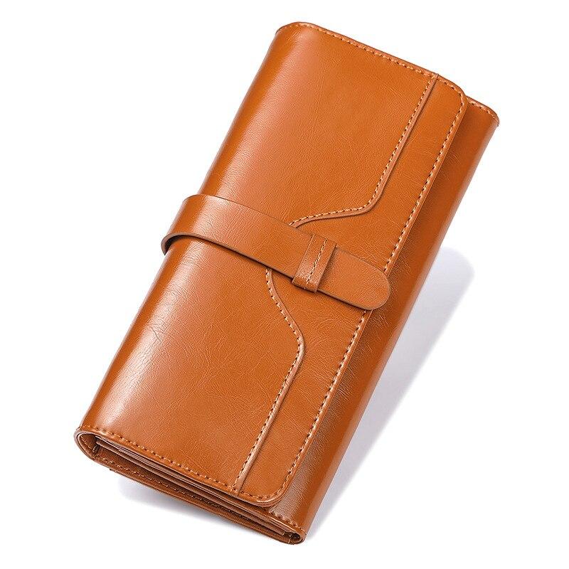 2019 offre spéciale portefeuille marque porte-monnaie Split cuir femmes portefeuille porte-monnaie portefeuille femme porte-carte longue dame embrayage livraison gratuite
