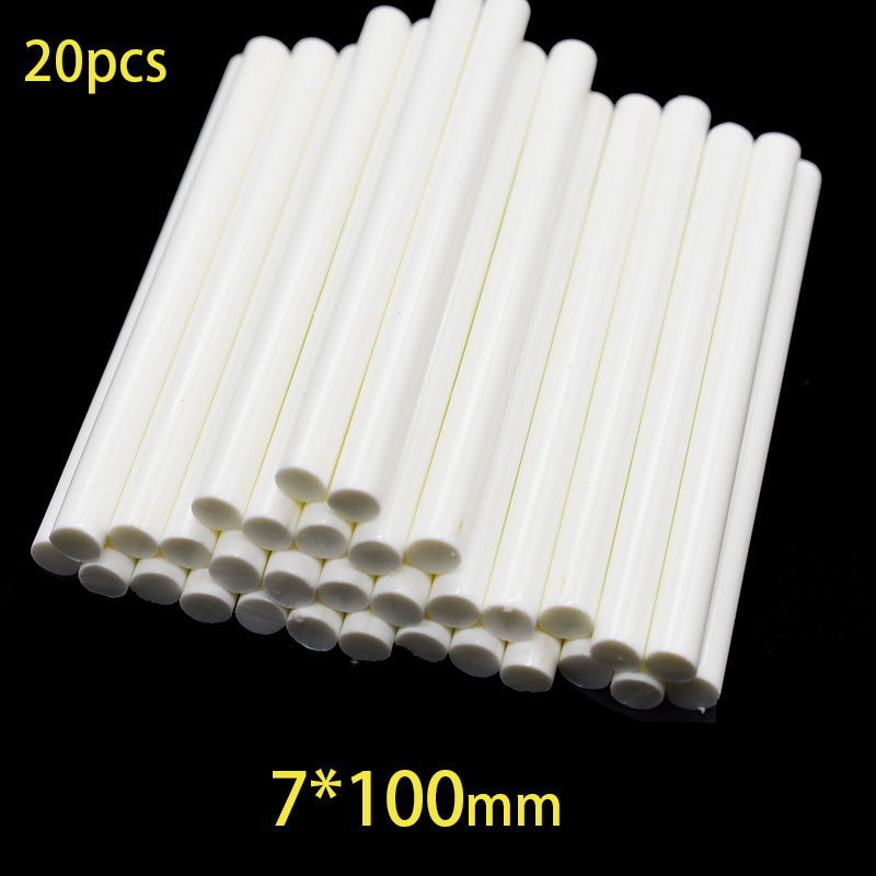 20Pcs 7x100mm Hot Melt Glue Sticks For 7mm Electric Glue Gun Craft DIY Hand Repair White Adhesive Sealing Wax Stick