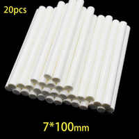 20Pcs 7x100mm Hot Melt Glue Sticks For 7mm Electric Glue Gun Craft DIY Hand Repair White Adhesive Sealing Wax Stick
