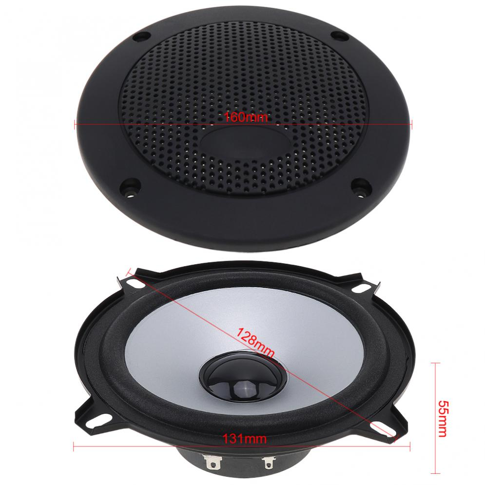 2pcs 5 Inch 100W Car Coaxial Speaker Automobile Car HiFi Audio Full Range Frequency Speaker auto sound loundspeaker in Coaxial speakers from Automobiles Motorcycles