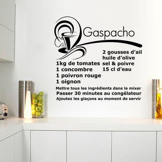 Spanisch Suppe Rezept Restaurant Küche Wandsticker Wohnkultur PVC ...