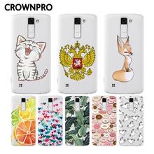 CROWNPRO For LG K8 Lte K350 K350E K350N Case Covers Silicone Soft TPU Case Back For LG K8 Phone Case
