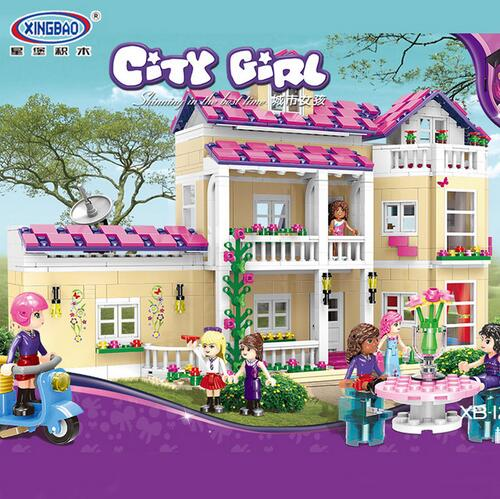 XINGBAO 12006 1334Pcs Girl Series The Happy Dormitory Set legoing Building Blocks Bricks Educational Funny Girls Kid Toys Gifts the girl with all the gifts