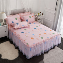 One piece Lace Bed Skirt Pure Cotton Fabric Home Bedding Single Double Bed Spread 1.2m 1.5m 1.8m 2m Bed XHA8(China)