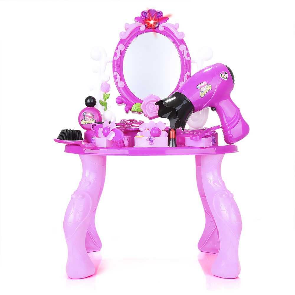 Моделирование косметичка детская одежда для девочек Макияж Tool Kit Box детей притворяться играть дома игрушки шик комод моделирования составляют