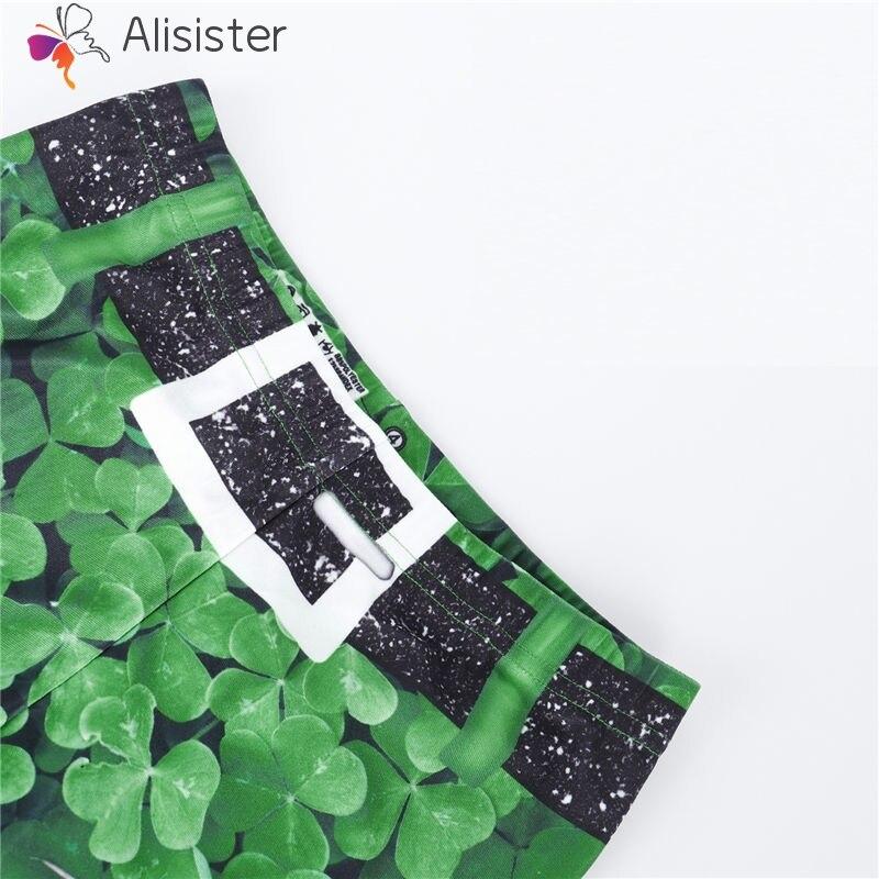 7be8a5558 Green Shamrock St. Patrick's Day 3D Leggings Women Fitness Slim Pants Full  Length Elastic Sexy Shamrock Leggings Lady-in Leggings from Women's Clothing  on ...