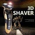 Hot 3D Flotante 360 hombres Rotary Impermeable Recargable Afeitadora de Afeitar Cuidado de La Cara