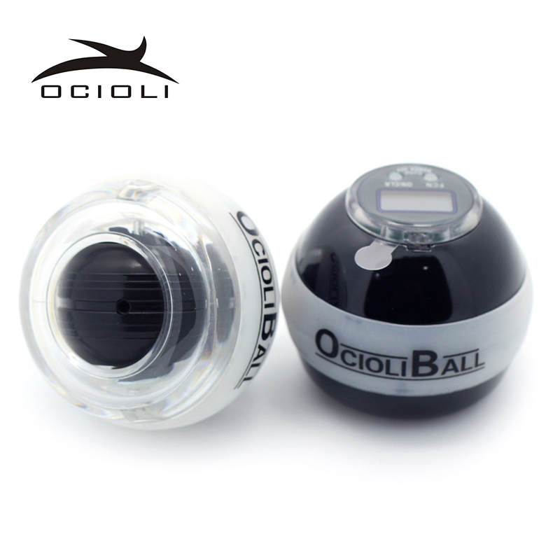 Ocloli Power Gyro Ball Hand Grip Arm Latihan Gyroscope Counter Speed ​​Meter LED Lighting Carpal Expander Fitness Equipment